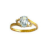 QP Jewellers 0.75ct Aquamarine Classic Desire Ring in 14K Gold