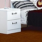 Alto Furniture Visualise Century 2 Drawer Bedside Table in Pearl White
