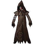 Child Evil Warlock Fancy Dress Costume Large