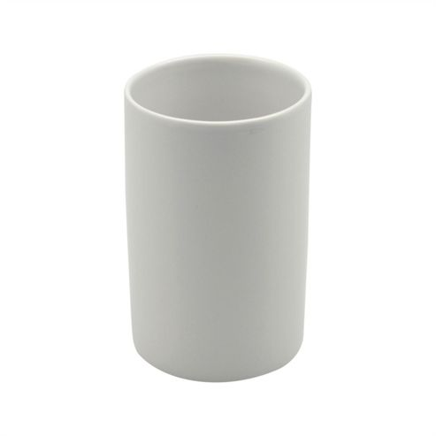 Buy harbour housewares glazed white ceramic bathroom for White bathroom tumbler