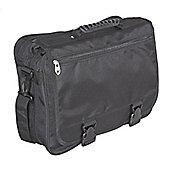 Falcon Deluxe Black Messenger Bag