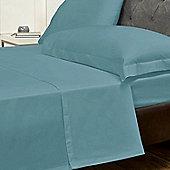Julian Charles Percale Teal Luxury 180 Thread Count Flat Sheet - Single