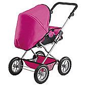 Bayer Combi Grande Dolls Pram - Pink