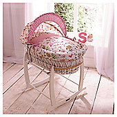 Clair de Lune Sweet Tweet White Wicker Basket