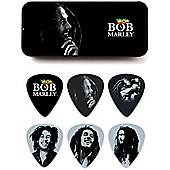 Bob Marley Silver Pick Tin - Heavy - 6 Picks