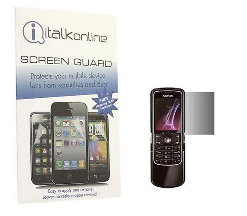 iTALKonline S-Protect LCD Screen Protector and Micro Fibre Cleaning Cloth - For Nokia 8600 Luna