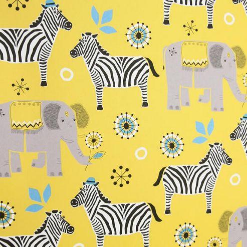 Rosehip Gift Wrap - Elephant & Zebra