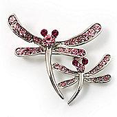 Fancy Pink Dragonfly Fashion Brooch