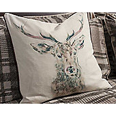 Gallery Stag Cushion - Watercolour