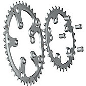 Stronglight 5-Arm/74mm Chainring: 24T.