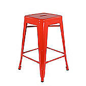 Xavier Pauchard Low Orange Tolix Style Stool