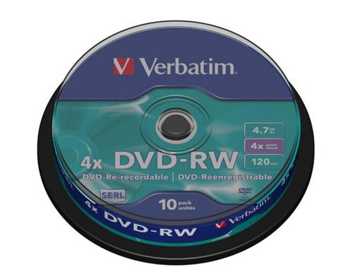 Verbatim 4.7 GB 4x 10 Pack DVD-RW