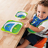 Skip Hop Zoo Tabletop Plate & Bowl Set - Dinosaur