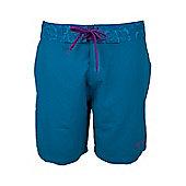 Hibiscus Womens Boardshorts - Blue