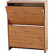 Flip - Compact 2 Drawer Shoe Storage Cabinet - Pine