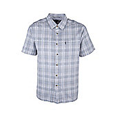 Holiday Mens Cotton Walking Short Sleeved Suummer Breathable Lightweight Shirt - Grey