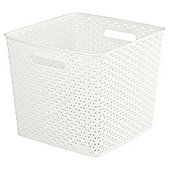 Curver My Style Square Storage Box - 25L - Cream