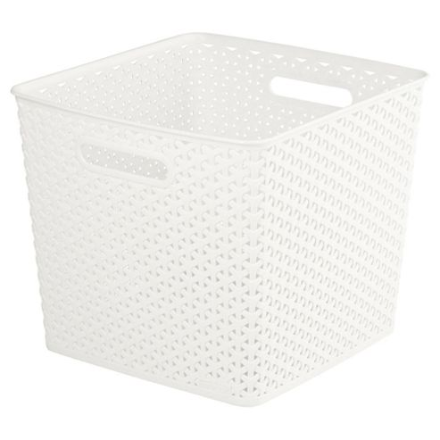 buy curver my style square storage box 25l cream from. Black Bedroom Furniture Sets. Home Design Ideas
