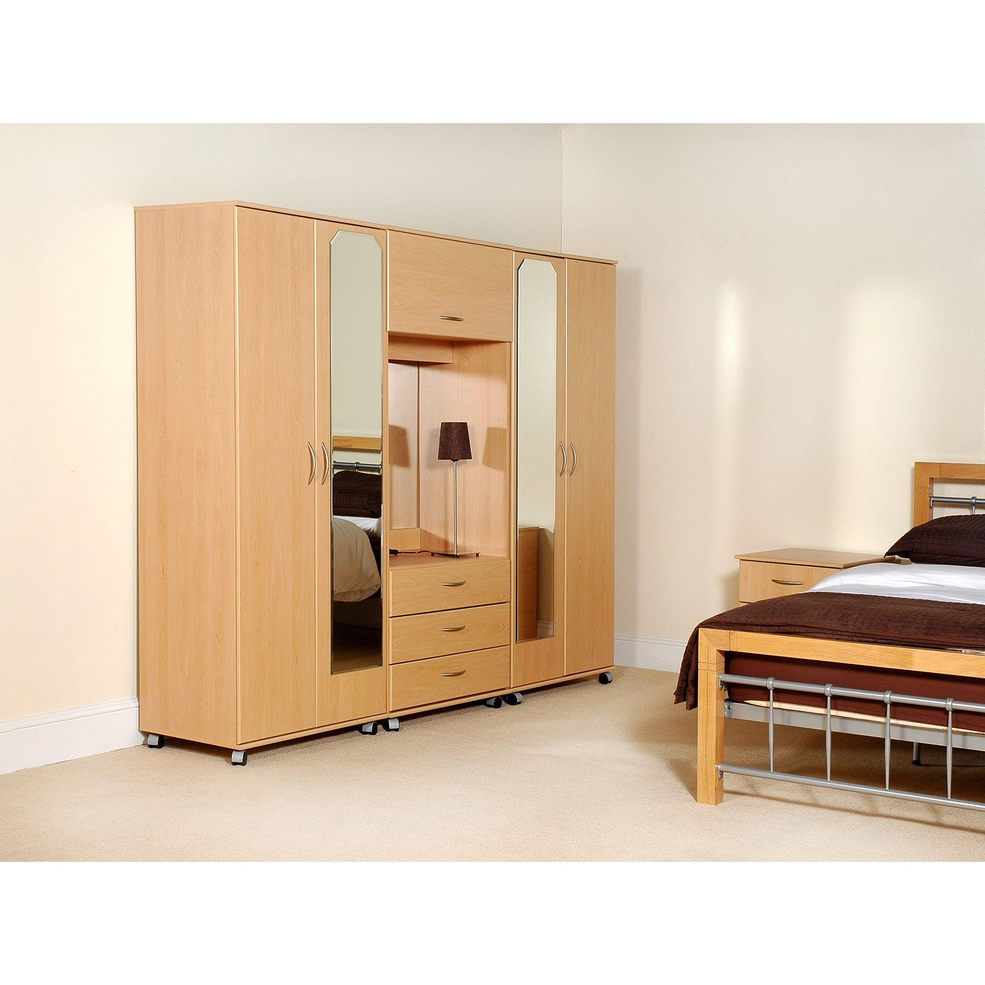 Ideal Furniture New York 4 Door Fitment - Oak at Tesco Direct