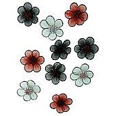 Mesh Flowers Classic 12pcs