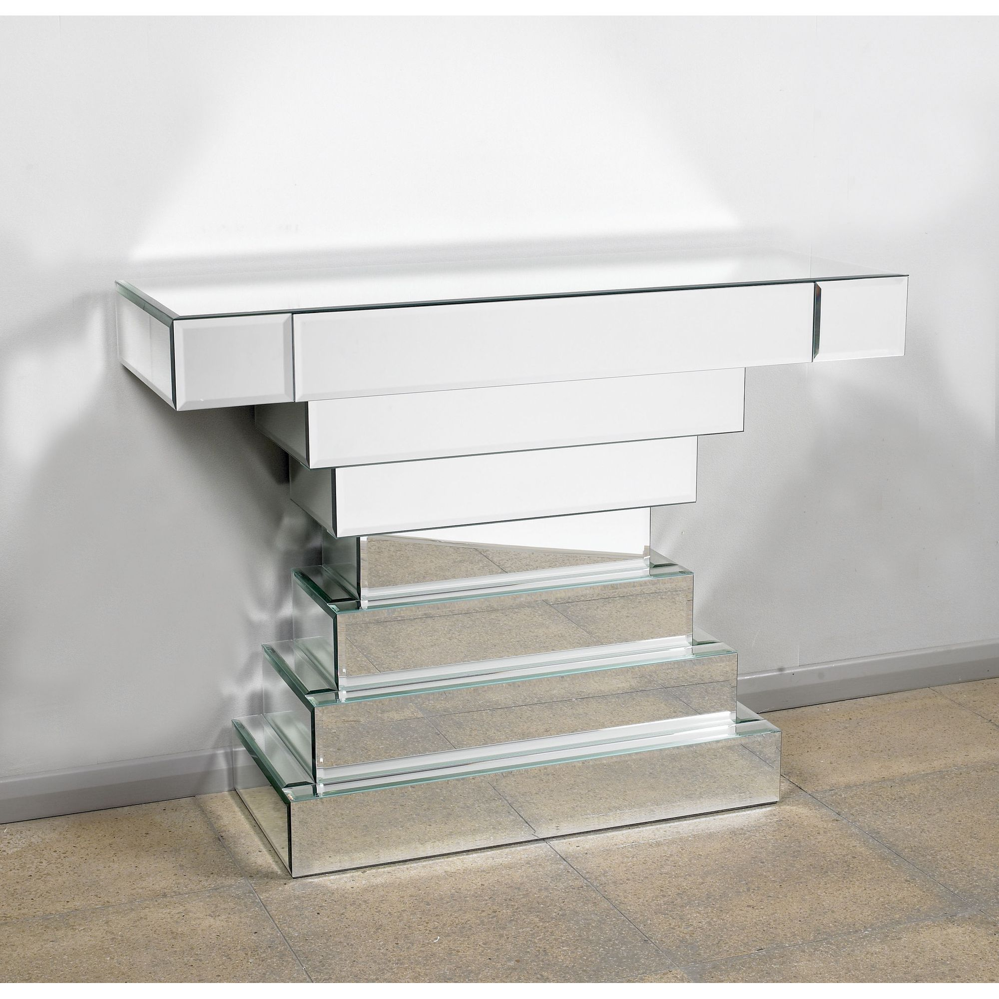 Morris Mirrors Ltd One Drawer Console Table in Silver at Tesco Direct