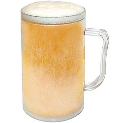 Dzine Ice Tankard Frosty Mug - Clear