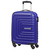 American Tourister Sunset Square 4-Wheel Hard Shell Blue Cabin Case