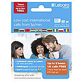 Lebara PAYG Sim (1st Five hours free)