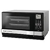Sharp AX-1100SLM 27L 900W Steamwave Microwave With Grill - Silver