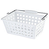 Tesco Basic Plastic Storage, White