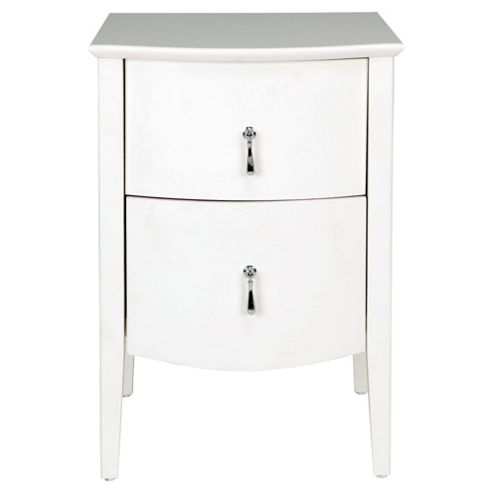 Rochelle 2 Drawer Bedside Table, Cream
