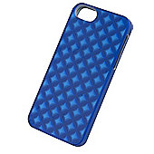 Tortoise™ Look Protective Case iPhone 5/5S, 3D Metallic Effect Blue.