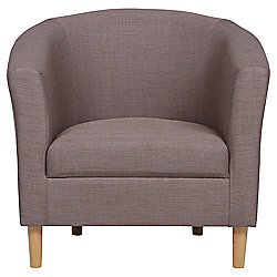 Tub Fabric Accent Chair Mocha