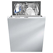 Indesit Slimline Built-in Dishwasher, DISR14B, White