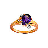 QP Jewellers Diamond & Amethyst Flank Ring in 14K Rose Gold