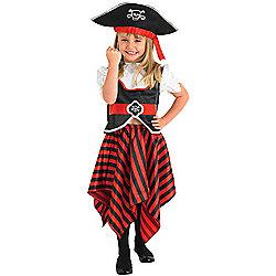 Child Girl Pirate Costume Medium