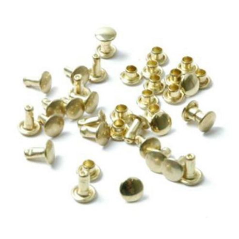 Tubular Rivets 8mm Gilt. Pack of 60.