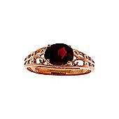 QP Jewellers 1.15ct Garnet Catalan Filigree Ring in 14K Rose Gold