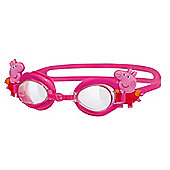 ZOGGS Peppa Pig Junior Kids Adjustable UV Swimming Goggles - Pink