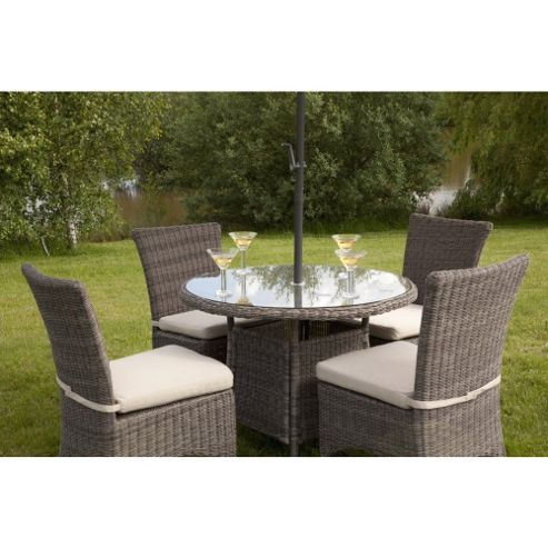 Liliana Round Weave Rattan Set - Outdoor/Garden table and Chair set.