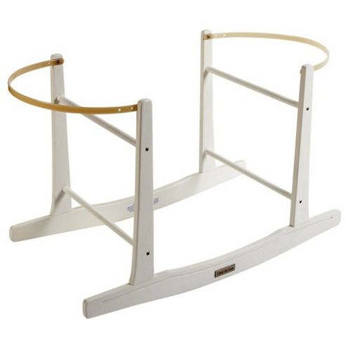 Clair de Lune Wooden Rocking Moses Basket Stand - White