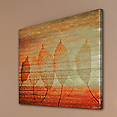 Parvez Taj Leafs 2 Canvas Wall Art - 122 cm H x 122 cm W x 5 cm D