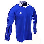 Bukta Retro George Best Style Football Shirt Royal Blue