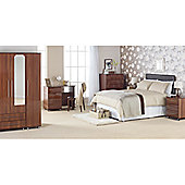 Ideal Furniture New York Four Drawer Bedside Table - American Walnut