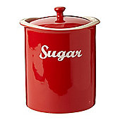 Linea Ceramic Curve Sugar Jar In Red New