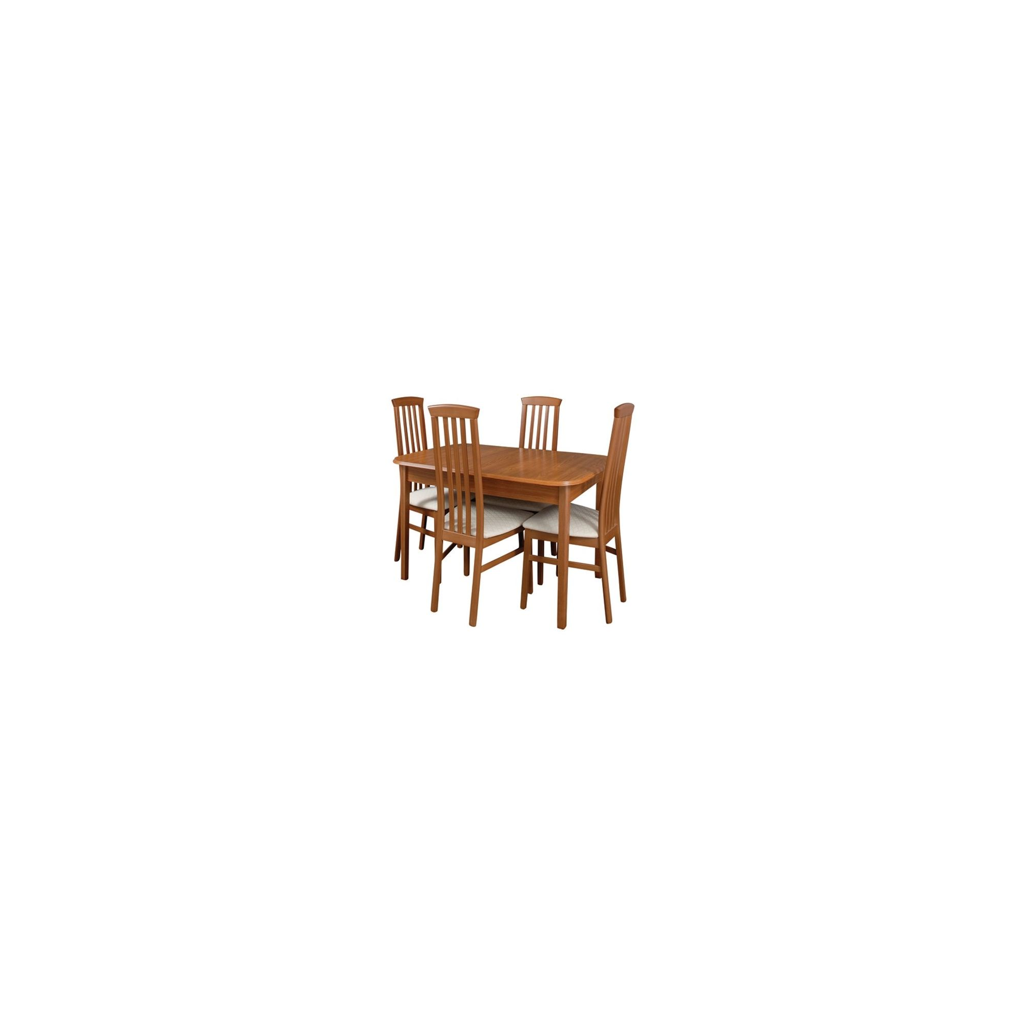 Caxton Lichfield 4 Leg Compact 4 Chair Extending Dining Set at Tesco Direct