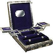 Royal - Metal Embossed Luxury Jewellery Box - Silver / Purple