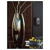 Tesco Gold & Bronze Ombre Metallic Vase