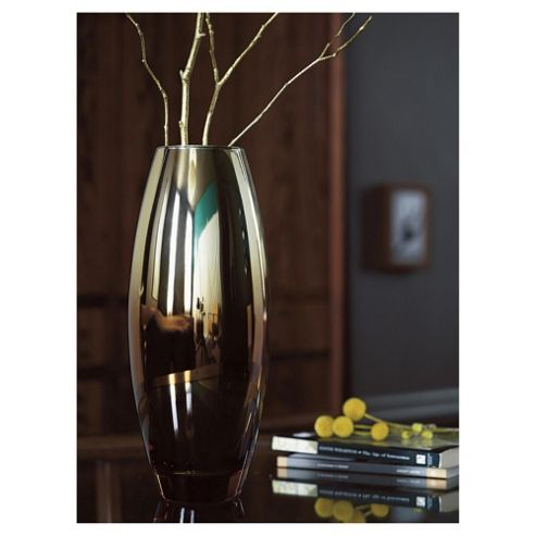 buy tesco gold bronze ombre metallic vase from our vases. Black Bedroom Furniture Sets. Home Design Ideas