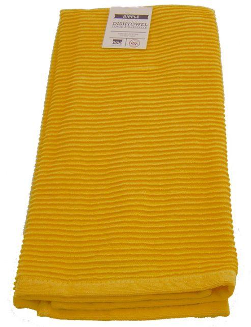 Buy Now Designs Single Ripple Kitchen Tea Towel Lemon Yellow From Our Tea Towels Range Tesco